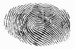 Davidsstern auf einem Fingerabdruck auf einem weißen Hintergrund lizenzfreie abbildung
