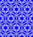 Davidsstern Hintergrund in der Nation Israel färbt Weiß und Blau Lizenzfreies Stockbild