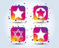 Davidsstern Ikonen Symbol von Israel lizenzfreie abbildung