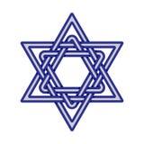 Davidsstjärna knoted symbol vektor Royaltyfri Bild