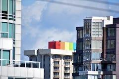 Davie St jest LGBTQ2 ?yczliwym ulic? zdjęcie stock