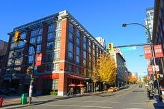 Davie Street, Vancouver BC Kanada lizenzfreie stockfotografie