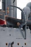 Davier de vieux plan rapproché de navire de guerre photo stock