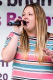 Davies τραγουδιστής Απριλίου σόλο Στοκ Φωτογραφία