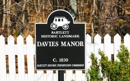 Davies Manor Plantation Sign Stock Images