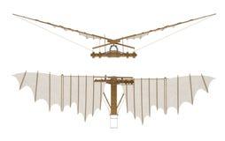 Davinci voladora som isoleras på den vita tolkningen 3d Arkivbilder