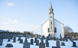 Daviot Church and cemetry Royalty Free Stock Photos