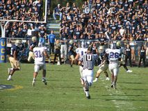 Davis, CA - Oktober 15, 2006: UC Davis Aggies versus Centraal Arkansas draagt voetbalspel Royalty-vrije Stock Foto's