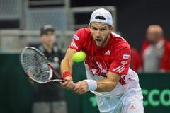 Davis Cup Αυστρία εναντίον της Ρωσίας Στοκ Εικόνες