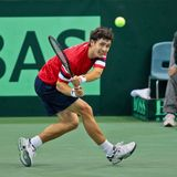 Davis Cup Αυστρία εναντίον της Ρωσίας Στοκ εικόνα με δικαίωμα ελεύθερης χρήσης