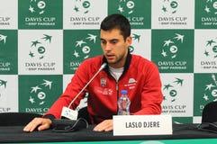 Davis Cup СЕРБИЯ 2018 против дня США первого, пресс-конференции Стоковые Фотографии RF