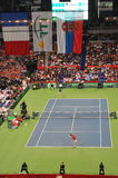Davis Cup Finals 2010: Serbia - France 3:2. Davis Cup Finals 2010, held in Belgrade Arena, December 3-5 2010. In this picture: Best ranking Serbian player Novak stock photo