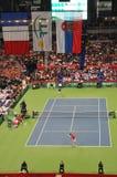 Davis Cup Finals 2010: Serbia - France 3:2. Davis Cup Finals 2010, held in Belgrade Arena, December 3-5 2010. In this picture: Best ranking Serbian player Novak Stock Photo