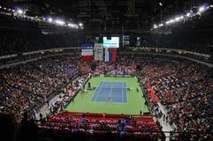 Davis Cup Finals in Belgrade, Serbia. Davis Cup Finals started today (12/03/2010) in Belgrade, Serbia Royalty Free Stock Image