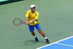 Davis Cup tennis game Ukraine v Austria Stock Photo