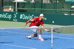 Davis Cup tennis game Ukraine v Austria Stock Images