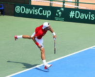 Davis Cup tennis game Ukraine v Austria Stock Image