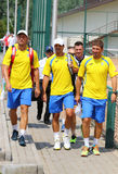 Davis Cup tennis game Ukraine v Austria Royalty Free Stock Image