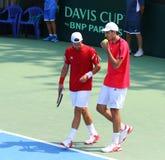 Davis Cup tennis game Ukraine v Austria Royalty Free Stock Photography