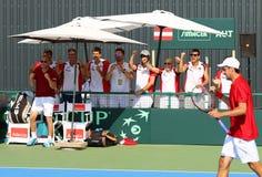 Davis Cup tennis game Ukraine v Austria Royalty Free Stock Images