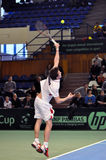 Davis Cup, tennis player Thomas Kromann in action Stock Images