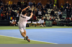 Davis Cup, tennis player Thomas Kromann in action Stock Photos
