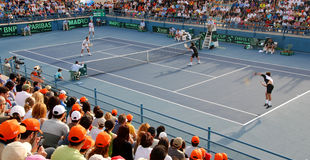 Davis Cup Tennis Tournament. In Cyprus Royalty Free Stock Image