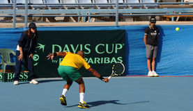 Davis Cup tennis tournament between Cyprus and Benin Royalty Free Stock Images