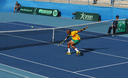 Davis Cup tennis tournament between Cyprus and Benin Stock Image