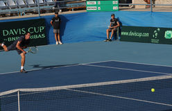 Davis Cup tennis tournament between Cyprus and Benin Royalty Free Stock Photos