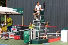 Davis Cup-tennisspel de Oekraïne v Oostenrijk Stock Foto's