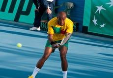 Davis Cup-tennistoernooien tussen Cyprus en Benin stock afbeeldingen