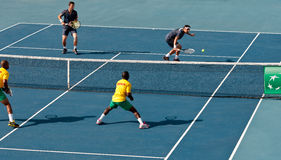 Davis Cup tennisturnering, Cypern mot Benin Royaltyfri Fotografi