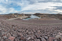 Davis Dam on the Colorado River Stock Photos