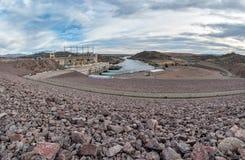 Davis Dam on the Colorado River. Davis Dam and hydroelectric plant, Nevada - Arizona border Stock Photos