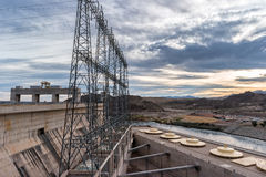 Davis Dam generating units Royalty Free Stock Photography