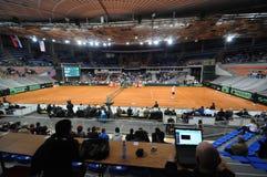 Davis filiżanka 2018 SERBIA vs usa pierwszy dzień, centrum sportowe Cair Nis Serbia Zdjęcia Stock