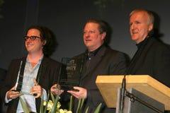Sir David Attenborough,David Attenborough,Davis Guggenheim,James Cameron,Al Gore Stock Image