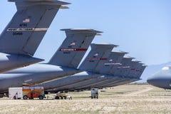 Davis-Monthan Air Force Base AMARG boneyard in Tucson, Arizona Stock Image