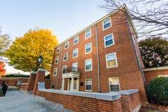 Davis Residence Hall an WFU Lizenzfreies Stockbild