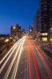 Davisville and Yonge Street at Night Stock Images