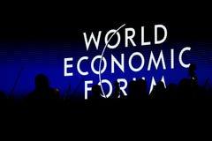 Davos Światowego Ekonomicznego forum coroczne spotkanie 2015 Obrazy Stock