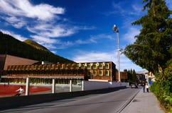 Davos centrum sportowe, Szwajcaria Obrazy Royalty Free