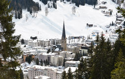 Davos, famous Swiss skiing resort Royalty Free Stock Images
