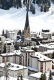 Davos, famous Swiss skiing resort Stock Photography