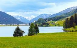 Davos Lake Summer View. Royalty Free Stock Images