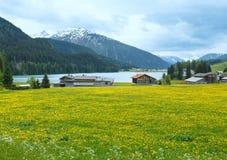 Davos Lake Summer View. Royalty Free Stock Photography