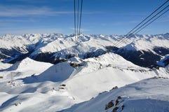 Davos ośrodek narciarski Fotografia Stock