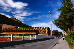 Davos Sports Center, Zwitserland Royalty-vrije Stock Afbeeldingen