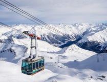 A driving cableway in Parsenn ski resort Stock Image